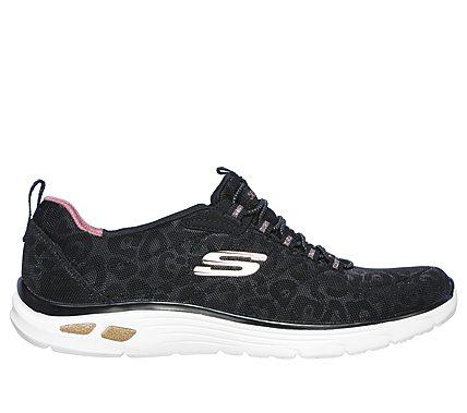Buy Skechers Empire 12418 BKW, Womens, Black, sneakers