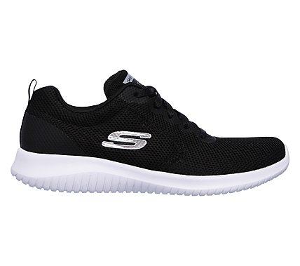 Skechers Damen Ultra Flex-Free Spirits Sneaker Weiszlig;/Schwarz