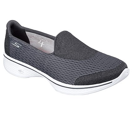 Skechers Gowalk 4 Pursuit Slip On Sneaker Charcoal - Womens Shoes