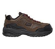 Skechers Work Soft Stride Constructor Work Shoes Mens Dark Brown Outlet Australia