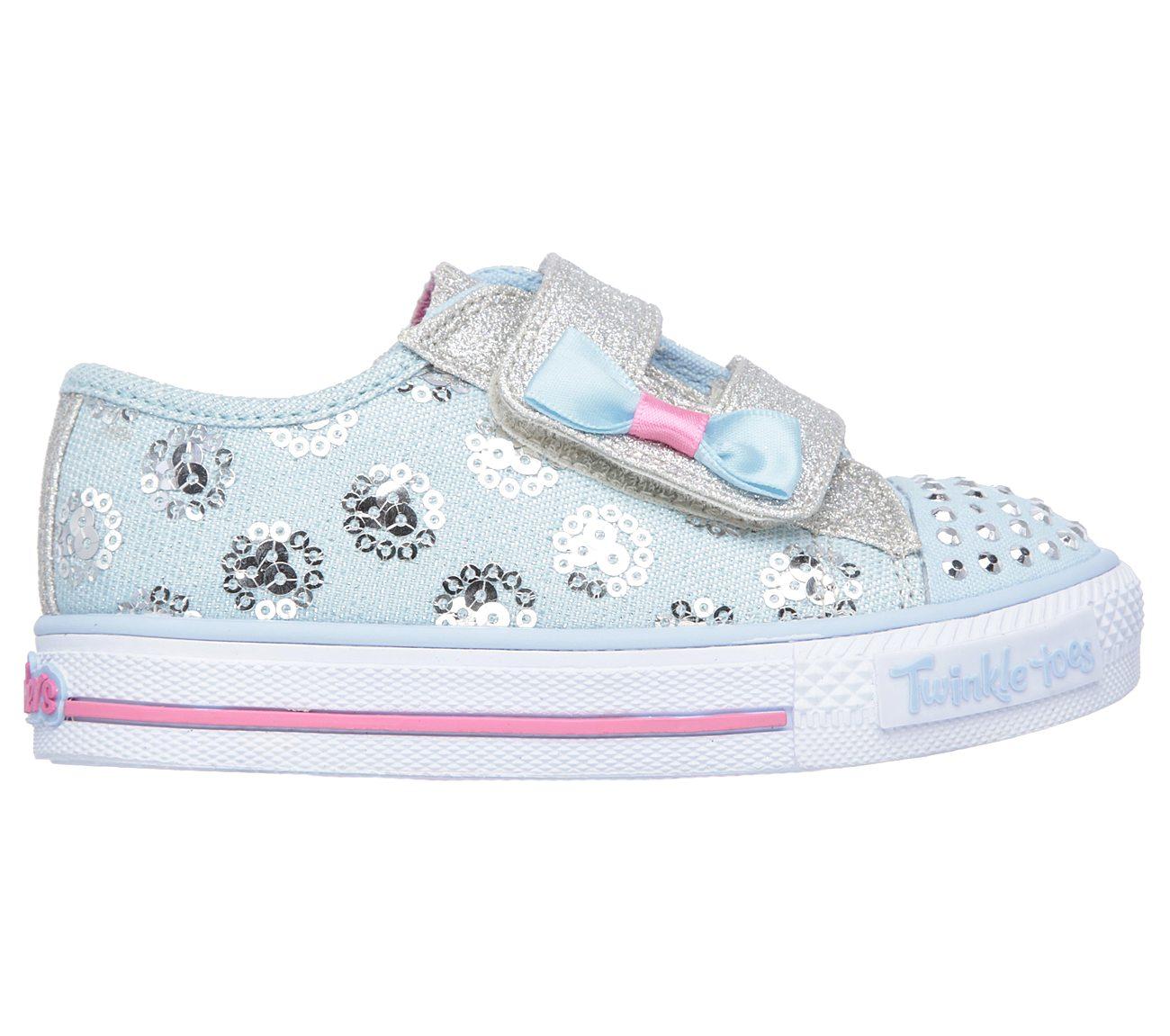 Blue Skechers Twinkle Toes Shuffles Sparkle Lite S Lights