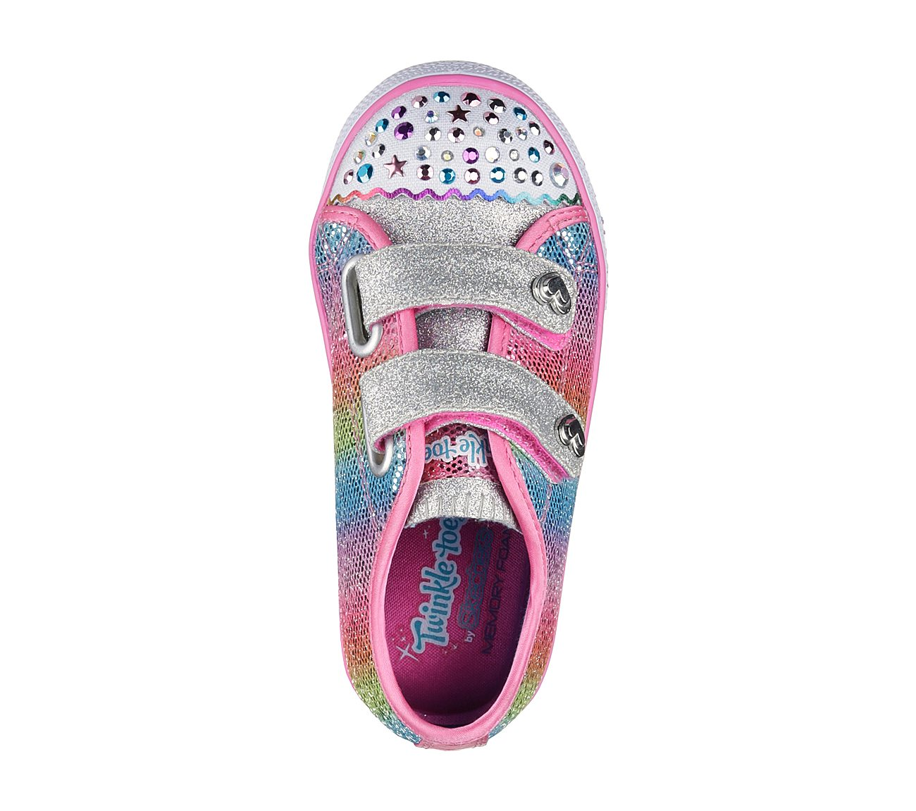 Step Up Sparkle Kicks Multi J43 New Girl Toddler Skechers 10696N Twinkle Toes