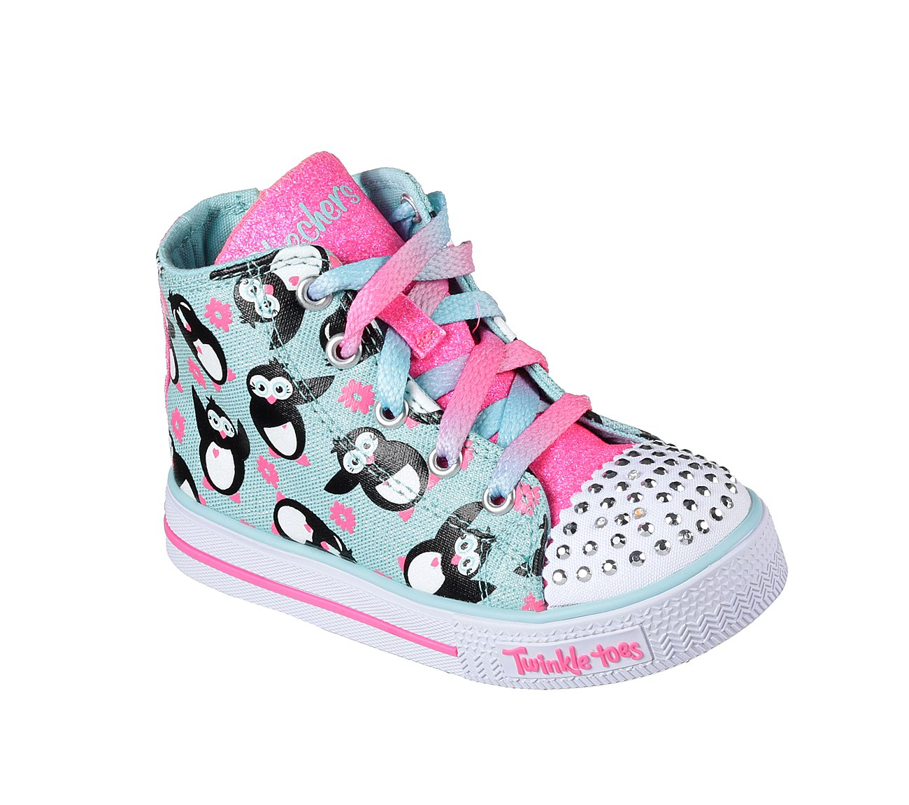 Skechers Twinkle Toes Shuffles Cheetah Print Girls Kids
