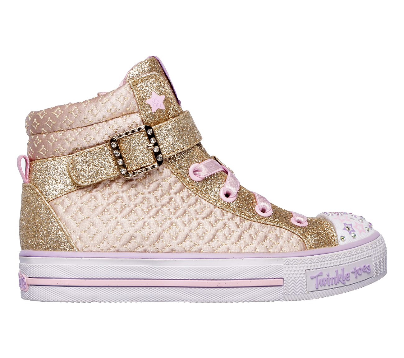 skechers twinkle toes high tops gold. hover to zoom. gold / pink skechers twinkle toes high tops gold k