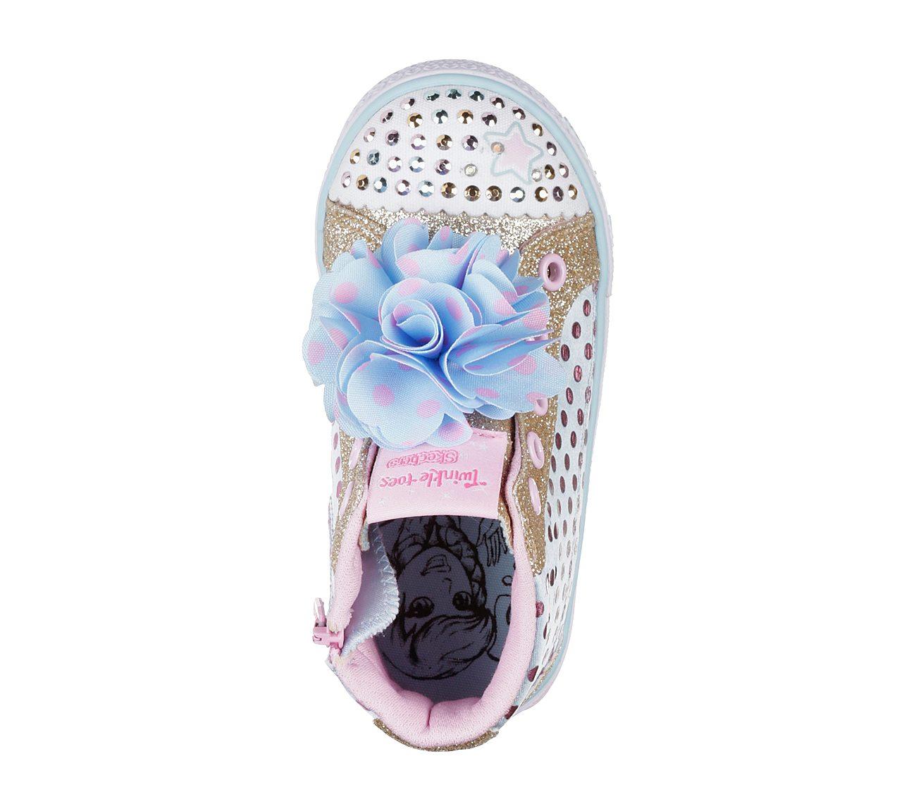 SKECHERS Kleinkind Mädchen Twinkle Toes Shuffles Flower Fun Baseball Schuhe Hellaquamarin