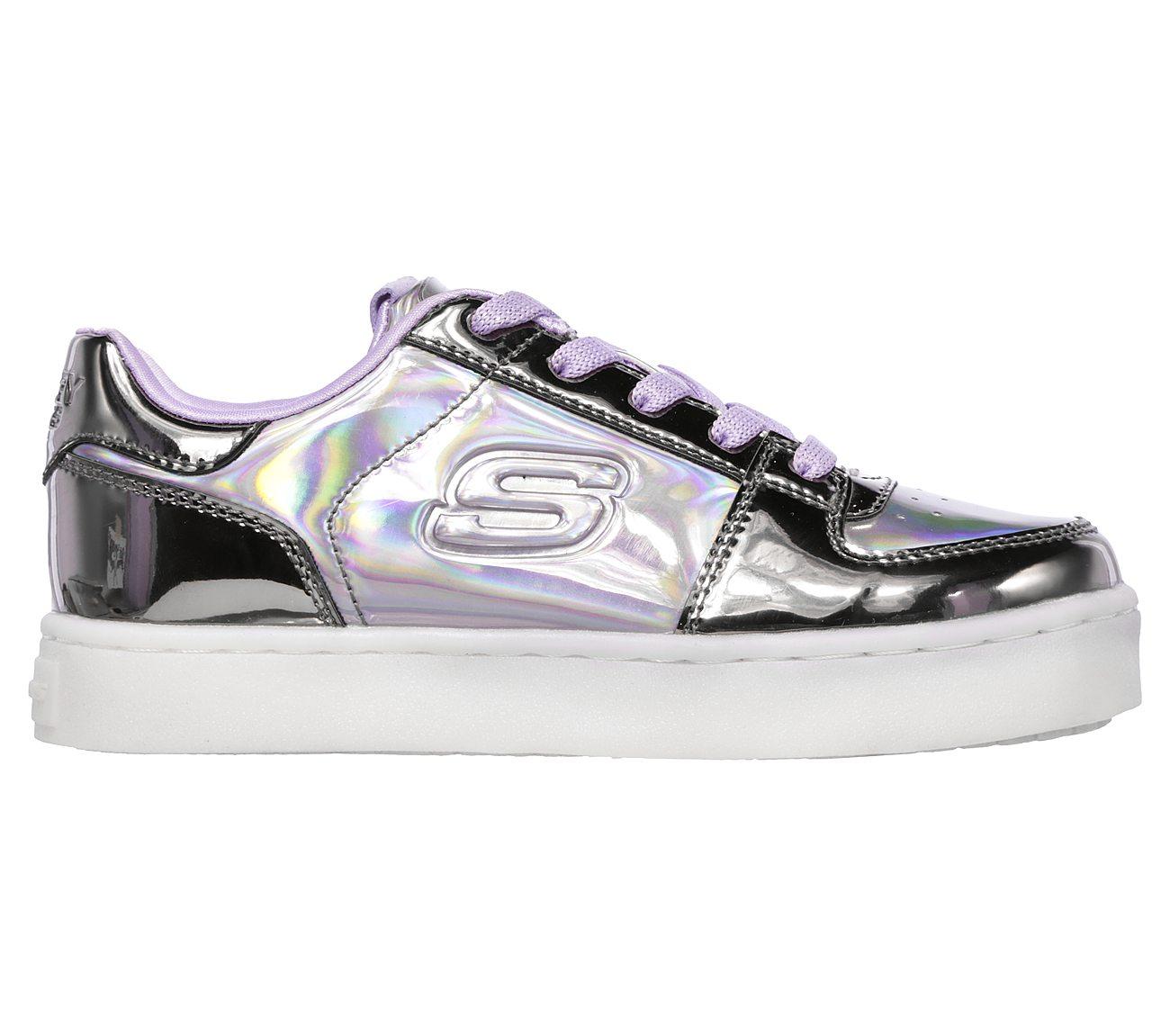 Skechers S Lights: Energy Lights Shiny Bright Sneaker (Metallic Lila GUPR)