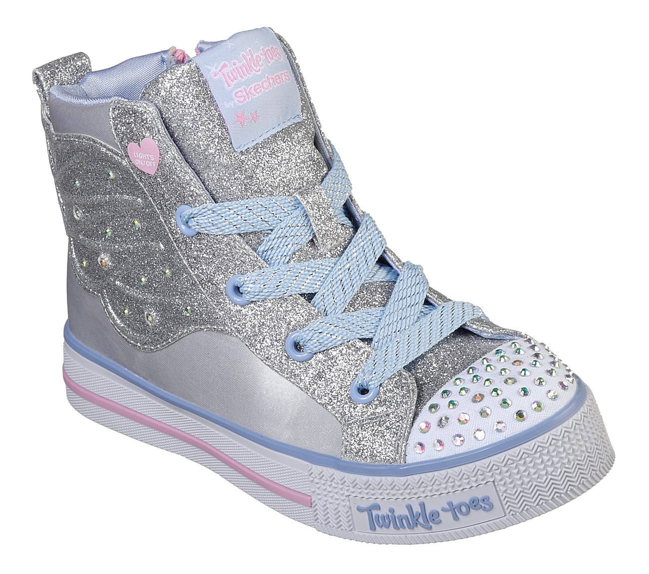 5101ad230 Buy SKECHERS Twinkle Toes: Shuffle Lite - Wonder Wingz Lace-Up Sneakers  Shoes only 60,00 €