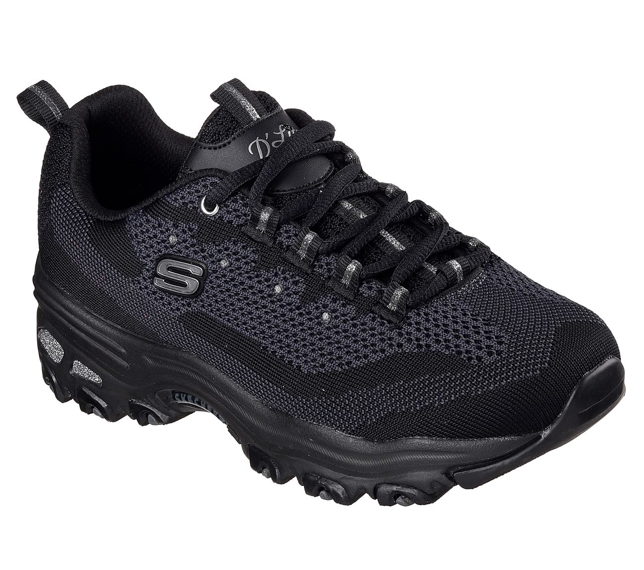 2018 stylish destroyed Womens Skechers Dlites Resilient Sneaker Clog Gray/White Womens Gray/White Skechers Womens Skechers