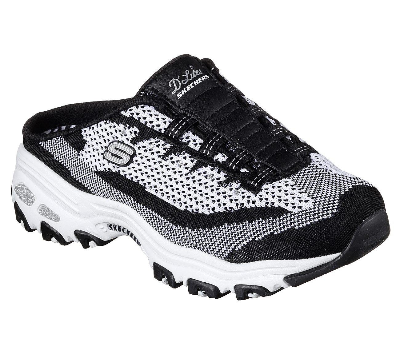 skechers d'lites black