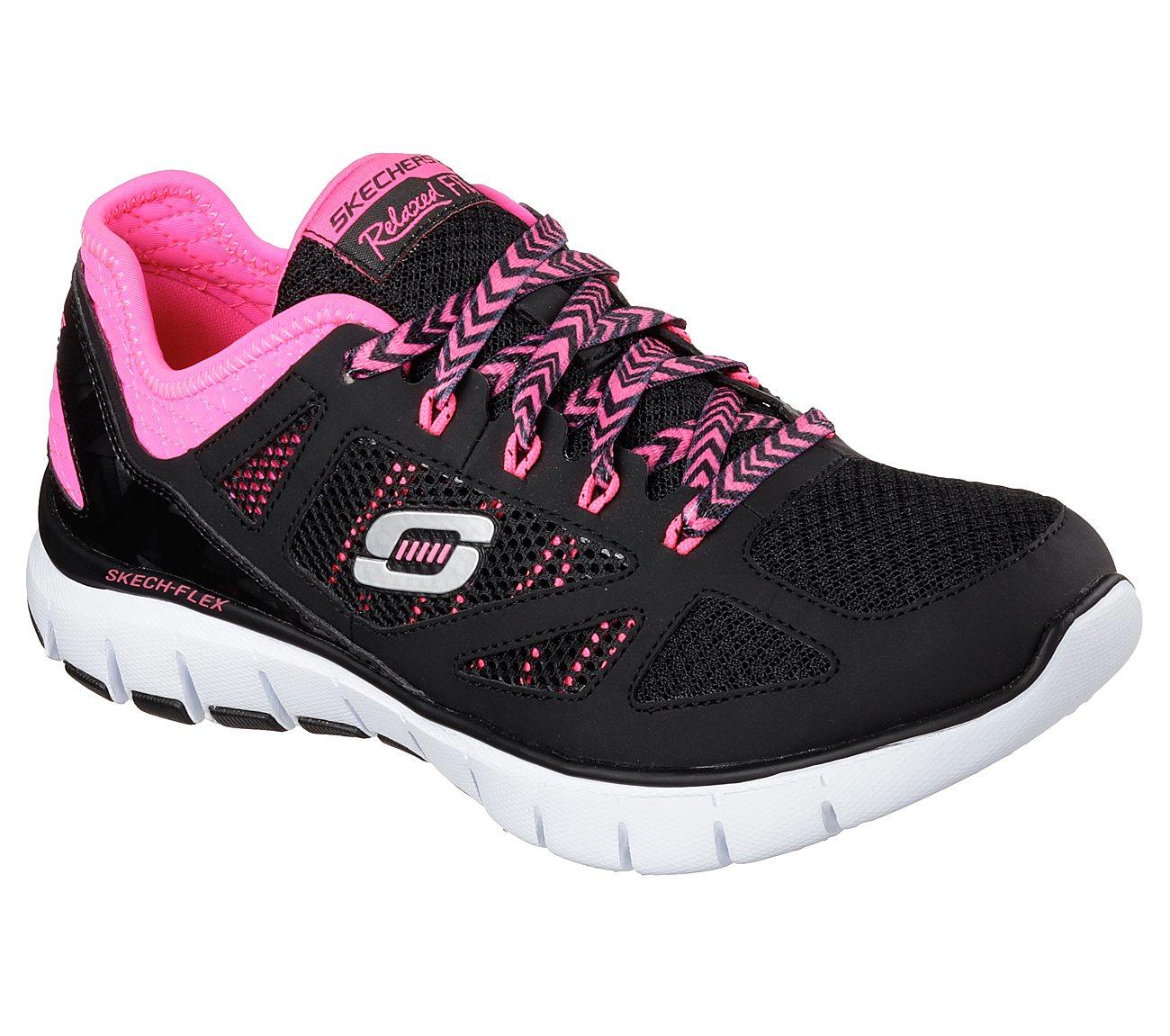 Skechers Skech-Flex Royal Forward 12128 Sport Shoes Color: Black