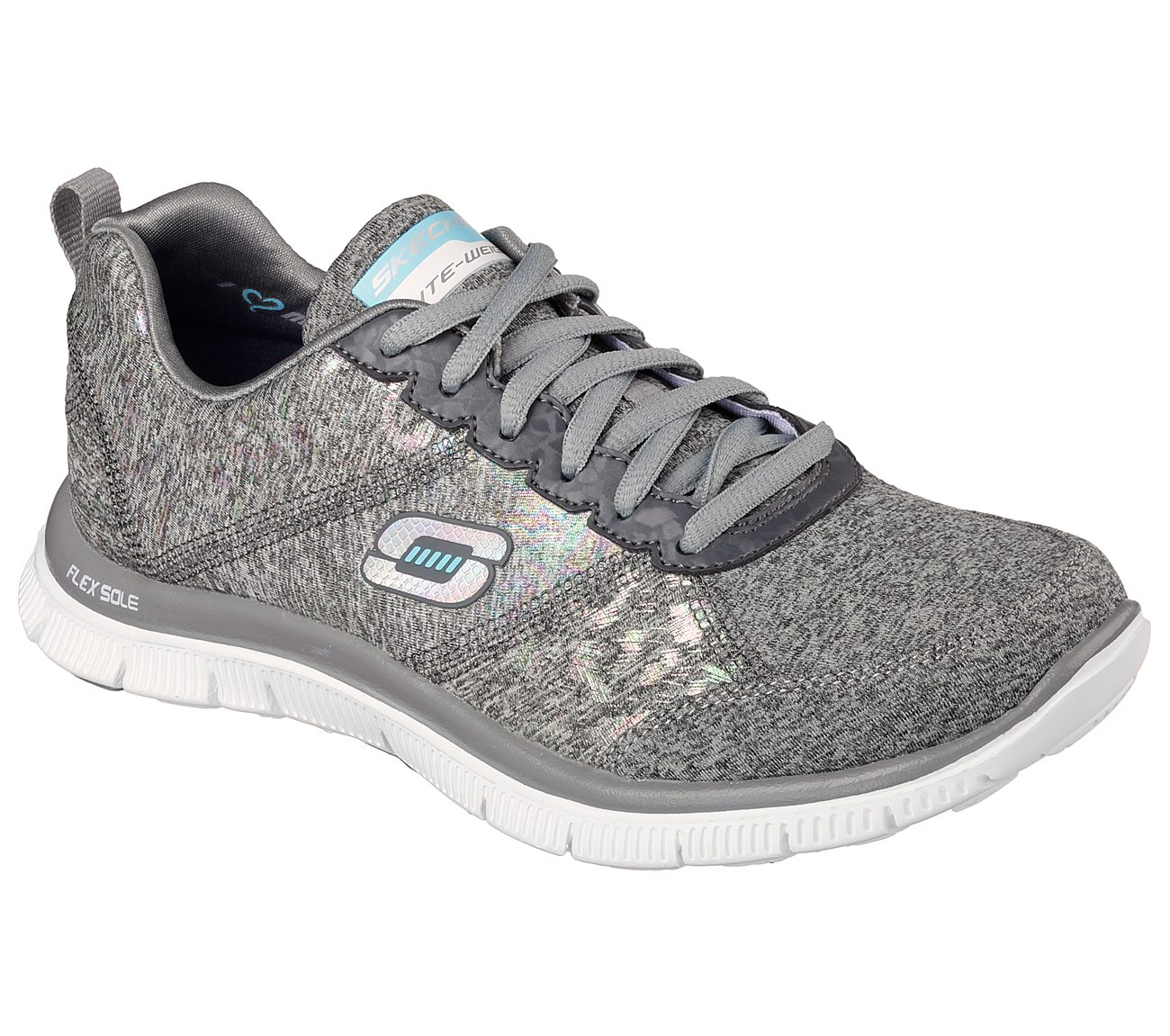 Skechers Flex Appeal Hollywood Hills 12199 Sport Shoes Color Grey  Women