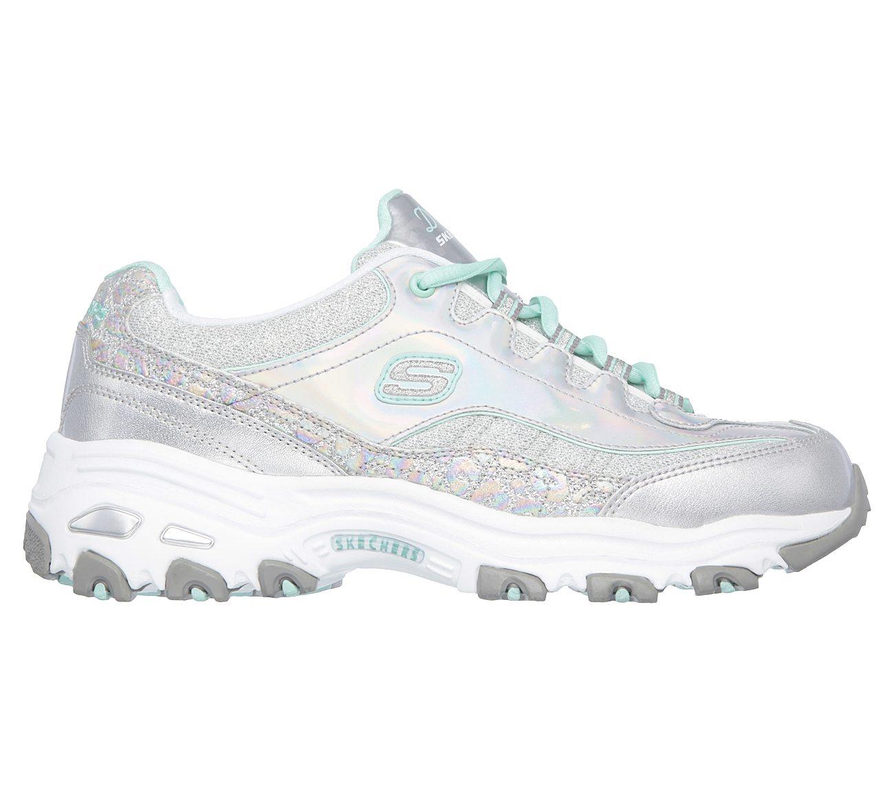skechers silver shoes