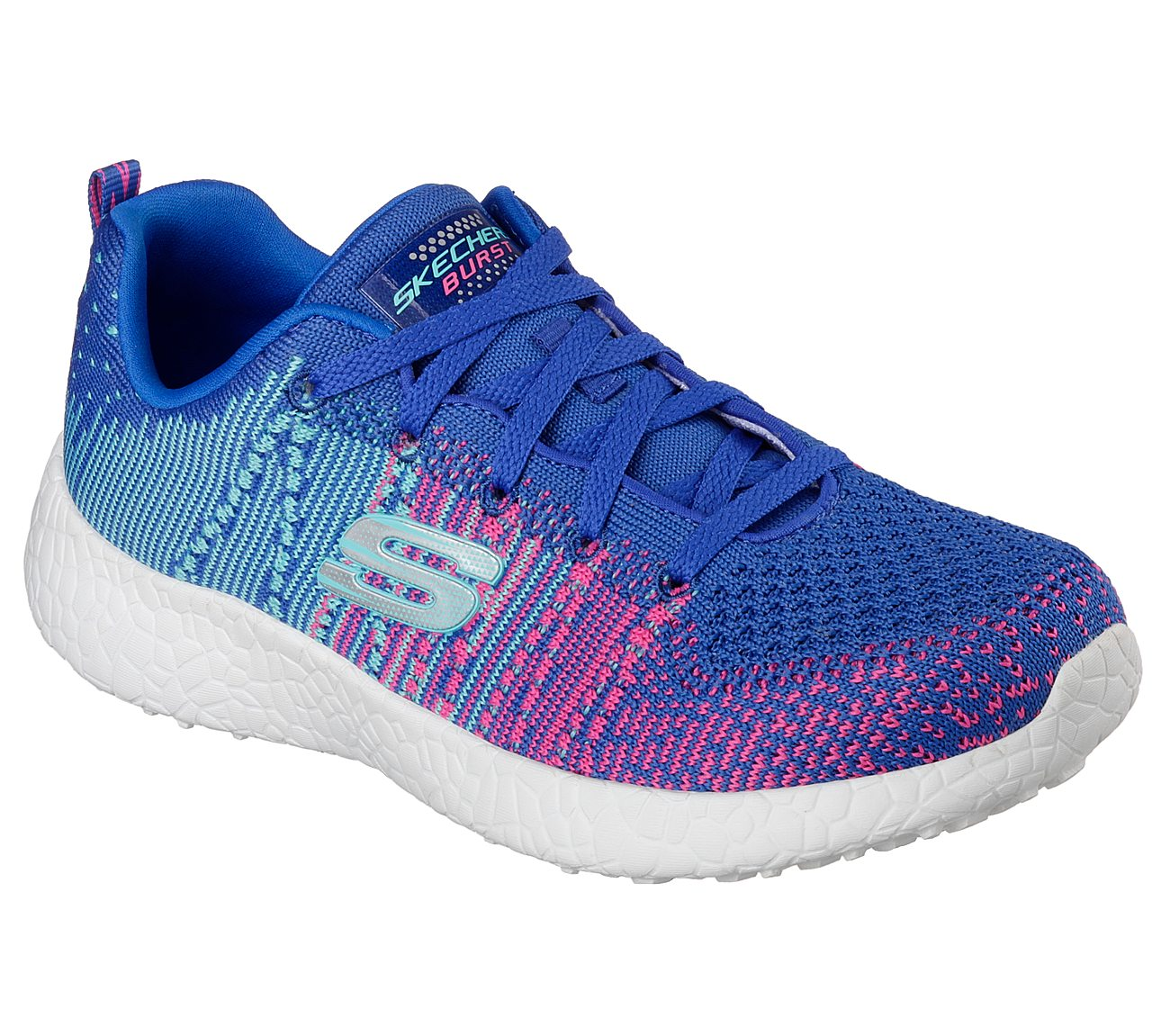 Pink Or Blue Lace Up Shoes For Women
