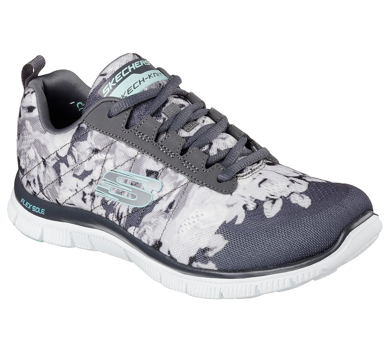 Scarpe SKECHERS - Flex Appeal 12448/BKMT Wildflowers