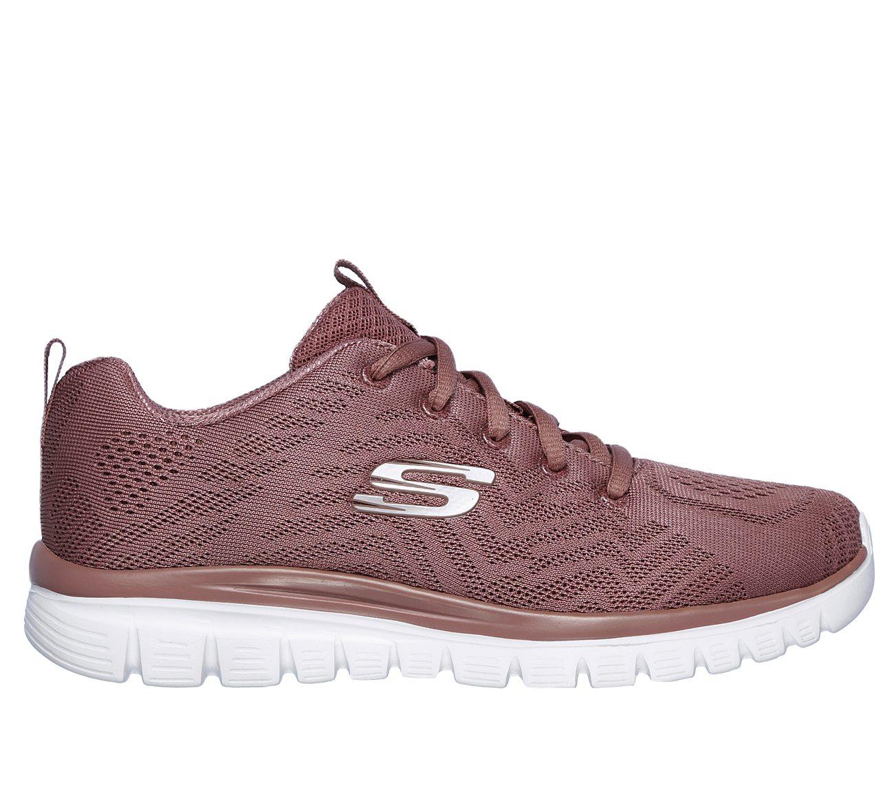 SKECHERS Women's Graceful Get Connected Sneakers, Charcoal