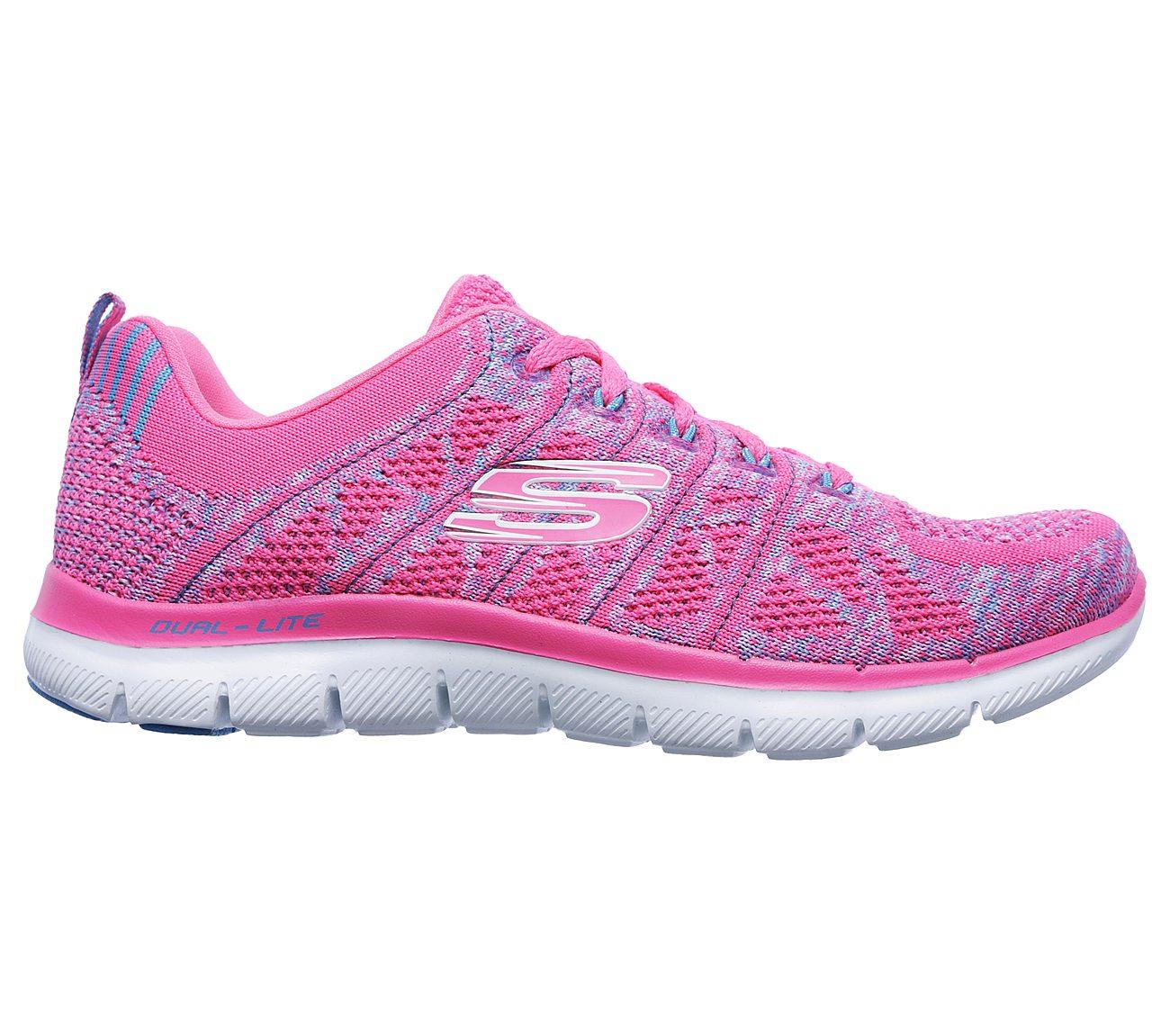 12623 Hot Pink Skechers shoes Memory Foam Women Sporty Train Comfort Casual Soft