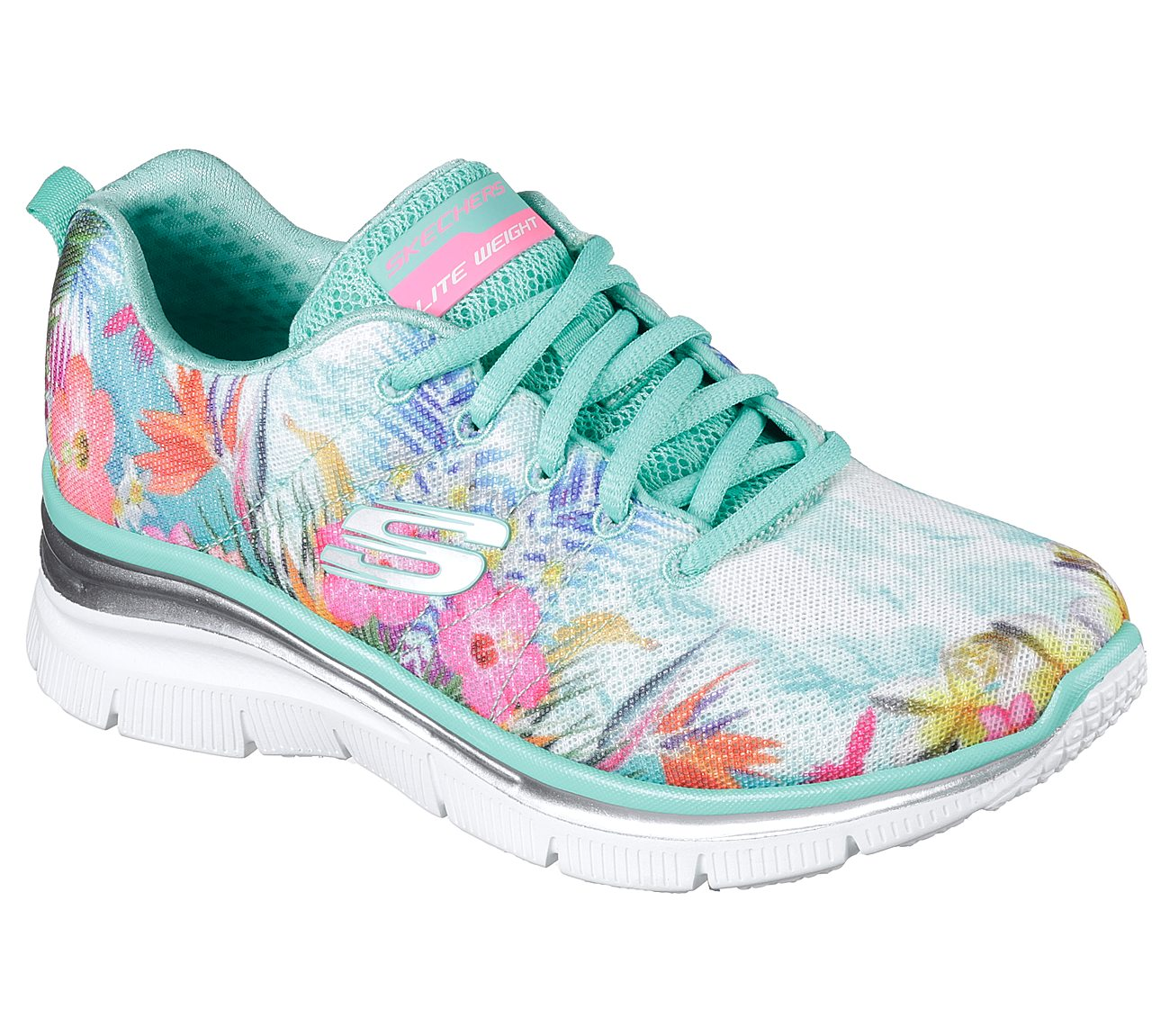 browse cheap online Skechers Tropical Print Sneaker Wedges - Spring Essential cheap price quality original BoM1xb