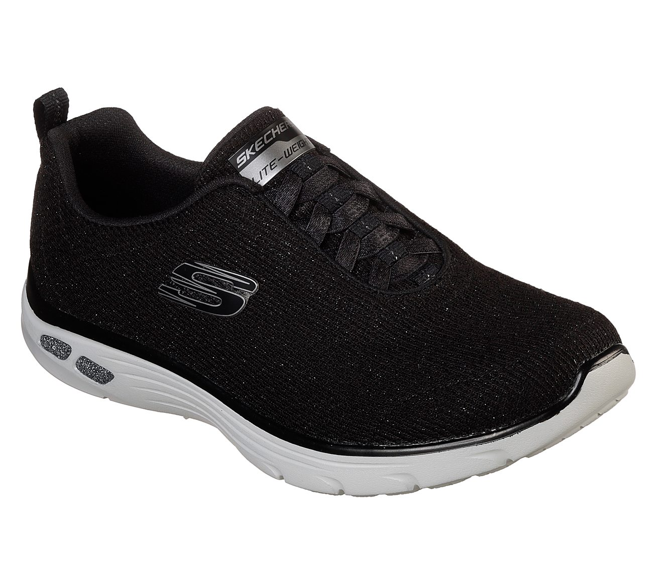 Low Cost Buy Cheap Footlocker Skechers Relaxed Fit Empire D'Lux Burn Bright Sneaker(Women's) -Black/Black Outlet Clearance Cheap Hot Sale Wiki For Sale jts8B