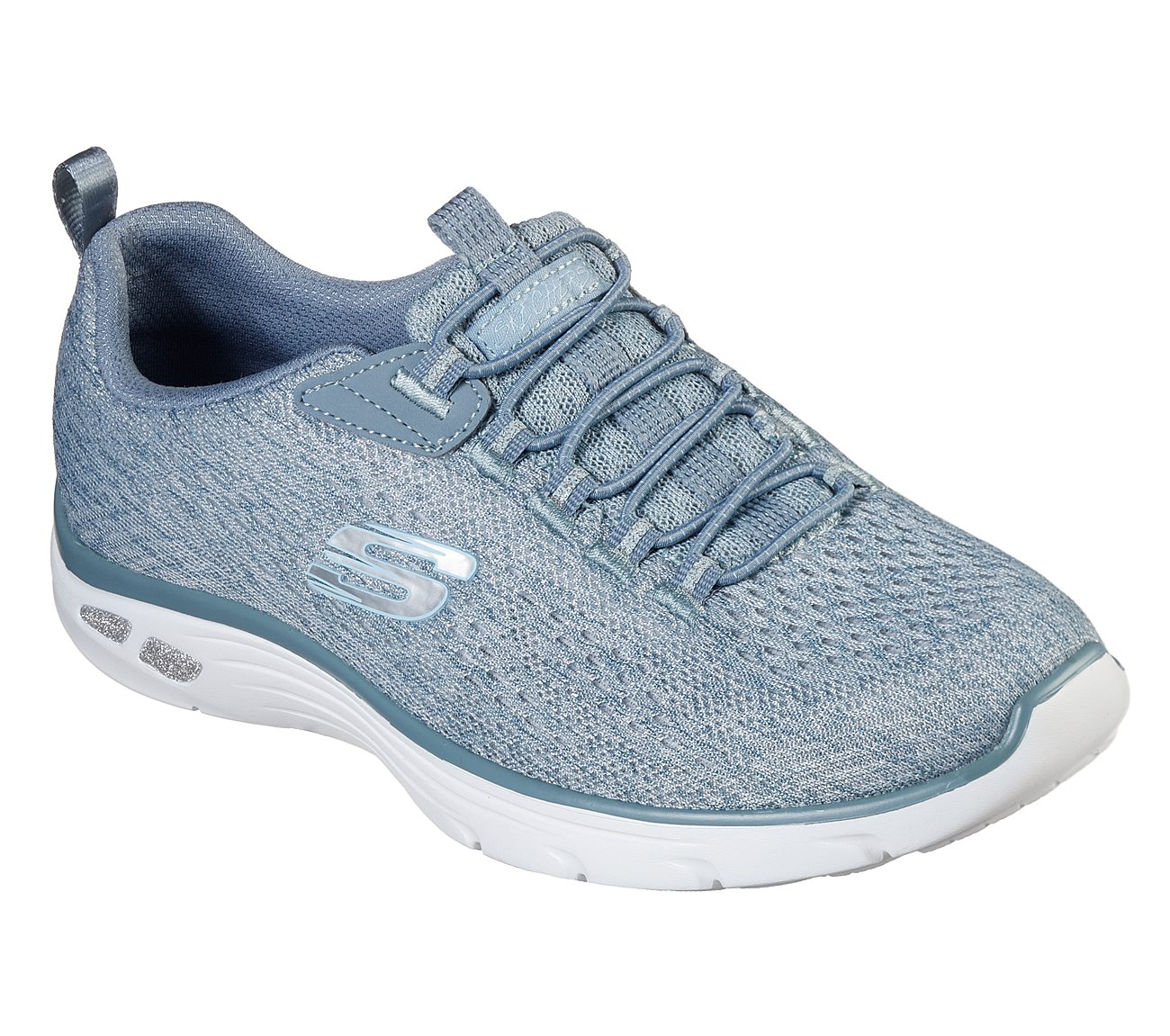 skechers relaxed fit blue