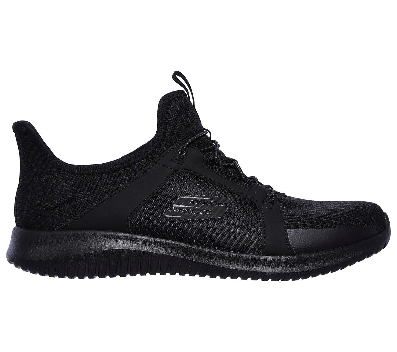 Details about Skechers Womens Ultra Flex Jaw Dropper Memory Foam Shoes Trainers Black