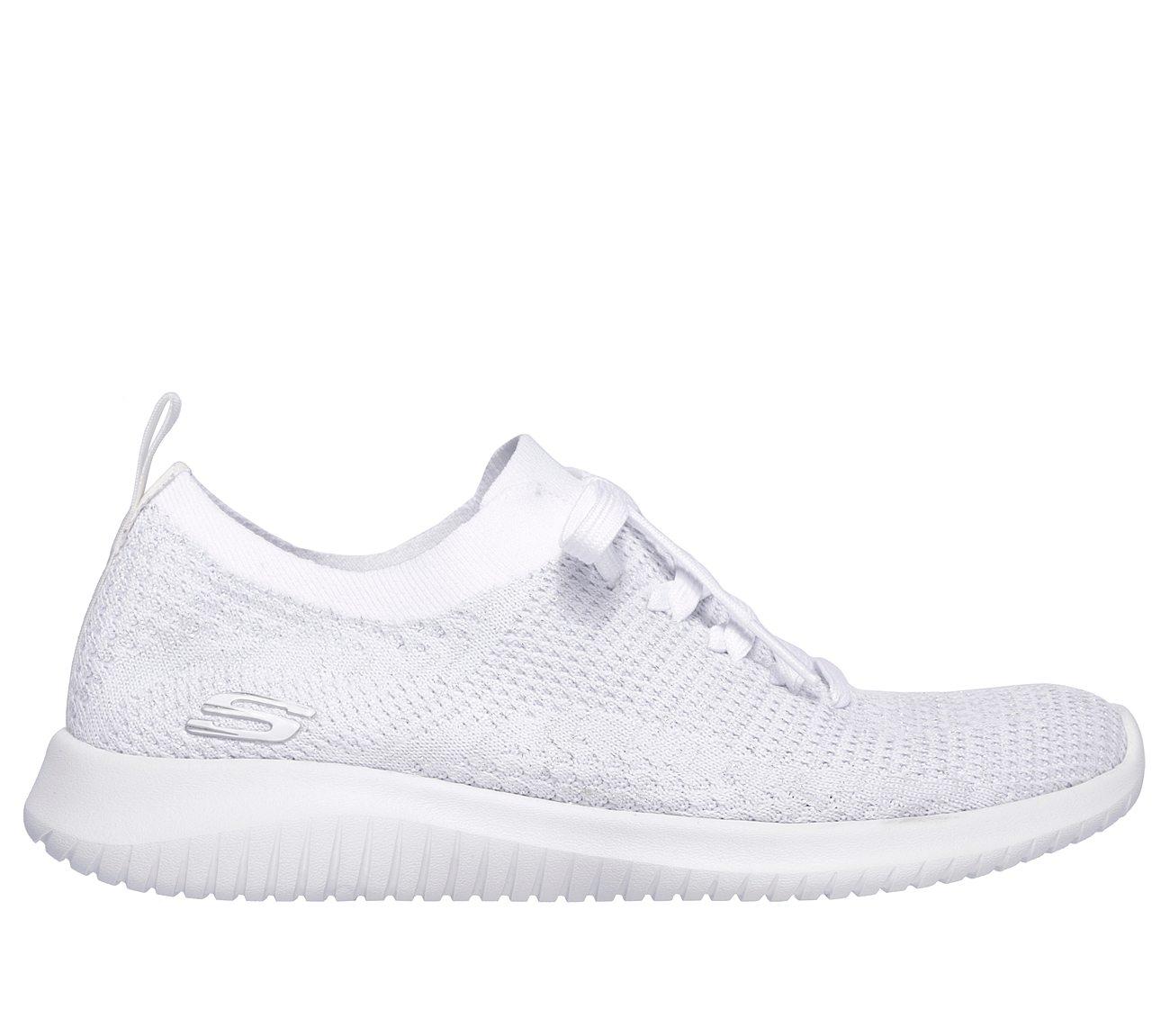 all white skechers