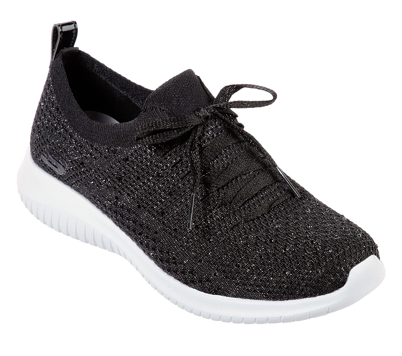 Details about Skechers Ultra Flex Strolling Out Womens Black Trainers Sport Casual Shoes