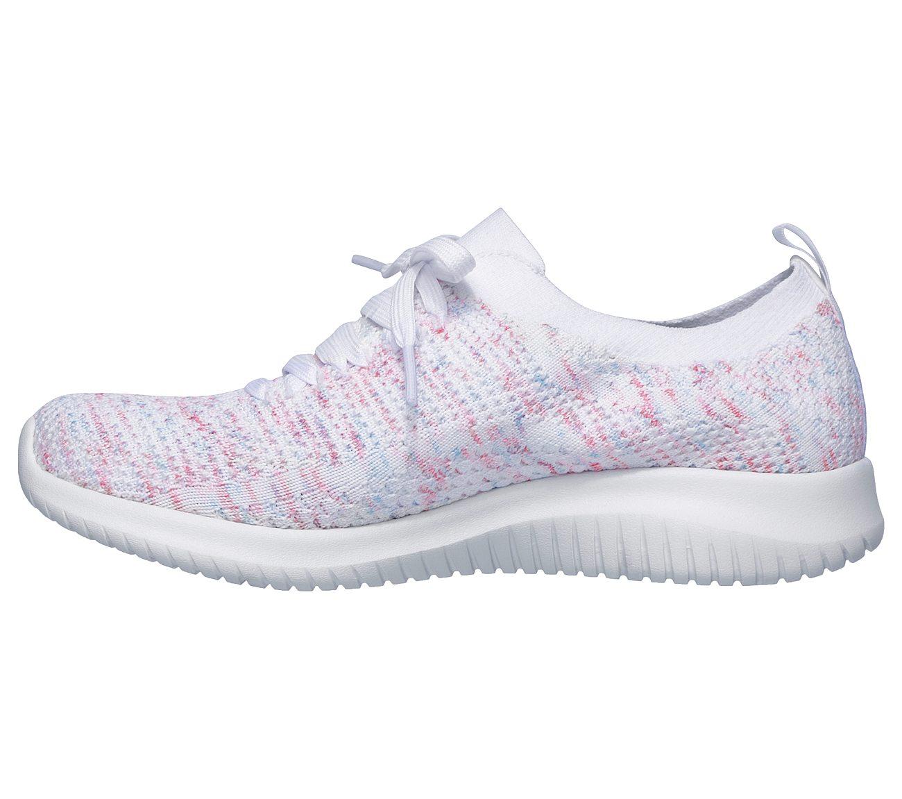 Skechers Women's Ultra Flex Happy Days Sneaker WhitePinkBlue