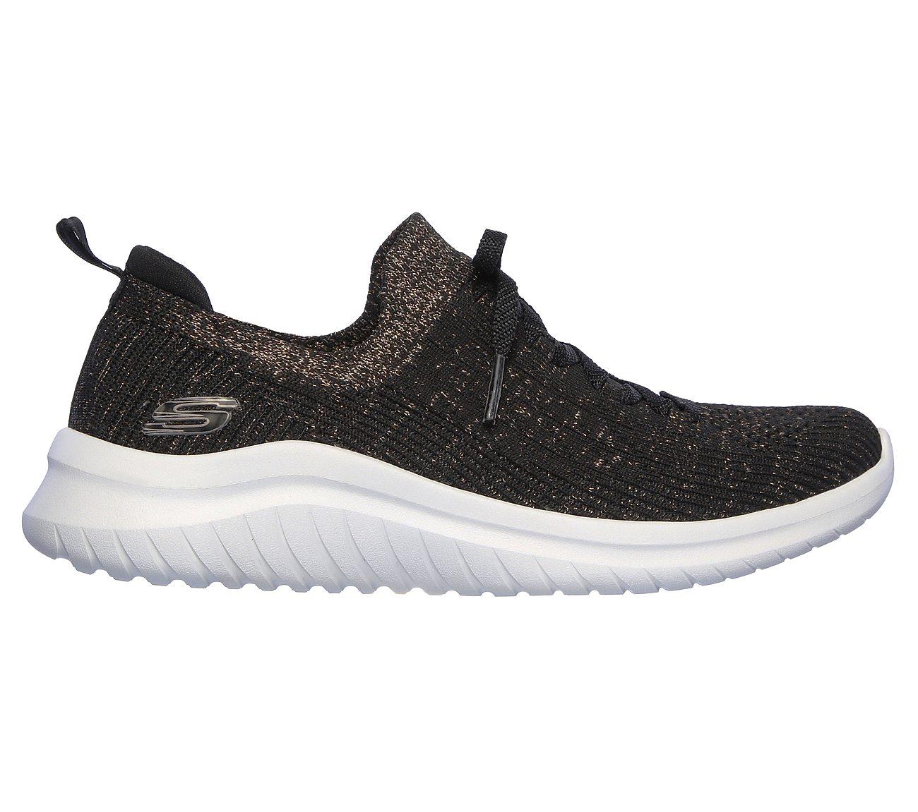 Skechers Women's Ultra Flex Strolling Out Sneaker Black