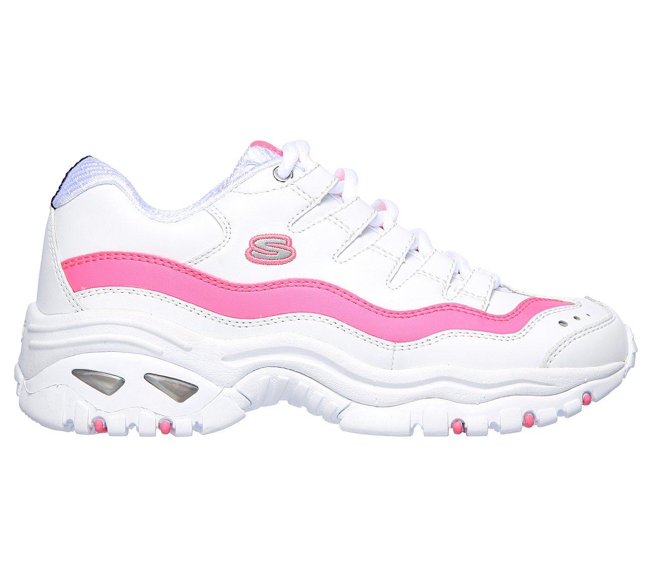 skechers pink tennis shoes