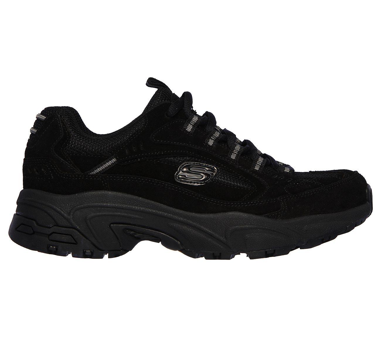 Skechers Black Athletic Sneakers with Perforations Sneakers | Bata
