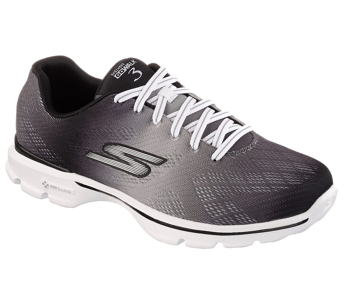 Skechers GOwalk 3 Pulse Sneaker Black/White I43y2876