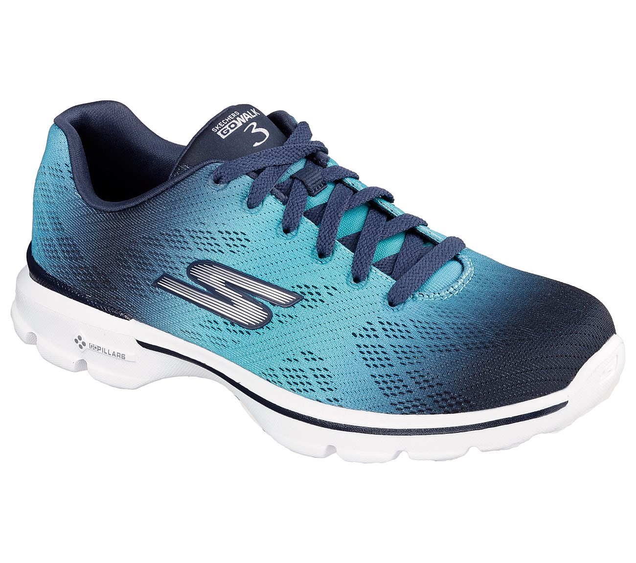 Skechers Women's GOwalk 3 Walking Shoes Navy/Aqua F49n8480