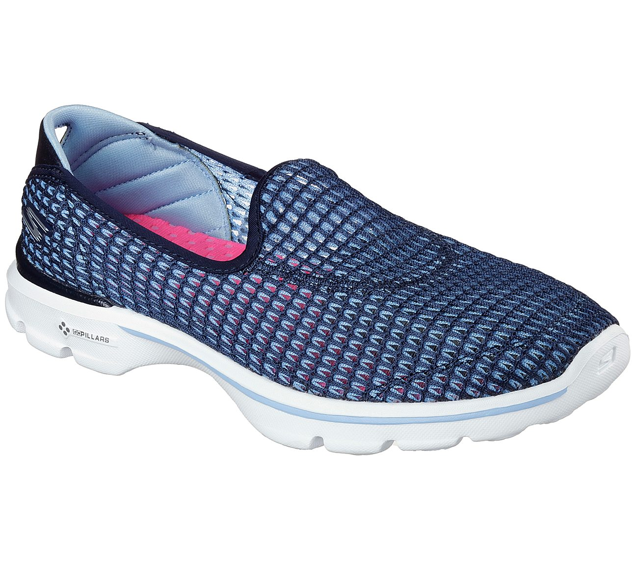 Skechers GOwalk 3 - Super Breathe 2. $65.00. 4.9. (9 reviews). Read 9  Reviews. Hover to zoom. NAVY / WHITE