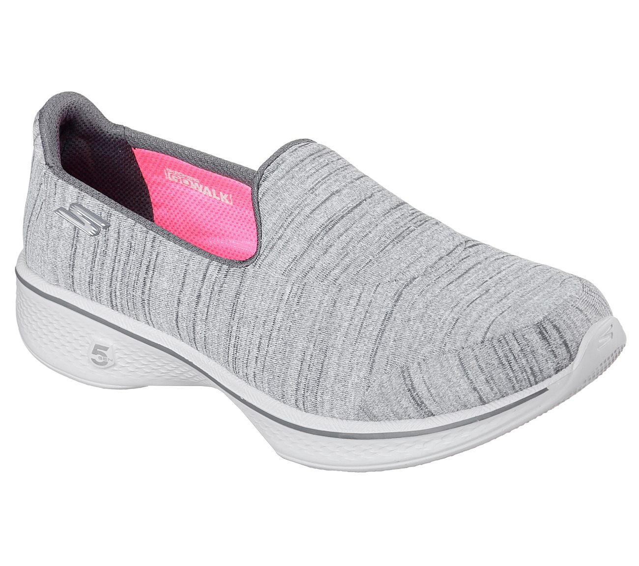Skechers Gowalk 4 Satisfy Slip On Sneaker Gray - Womens Shoes