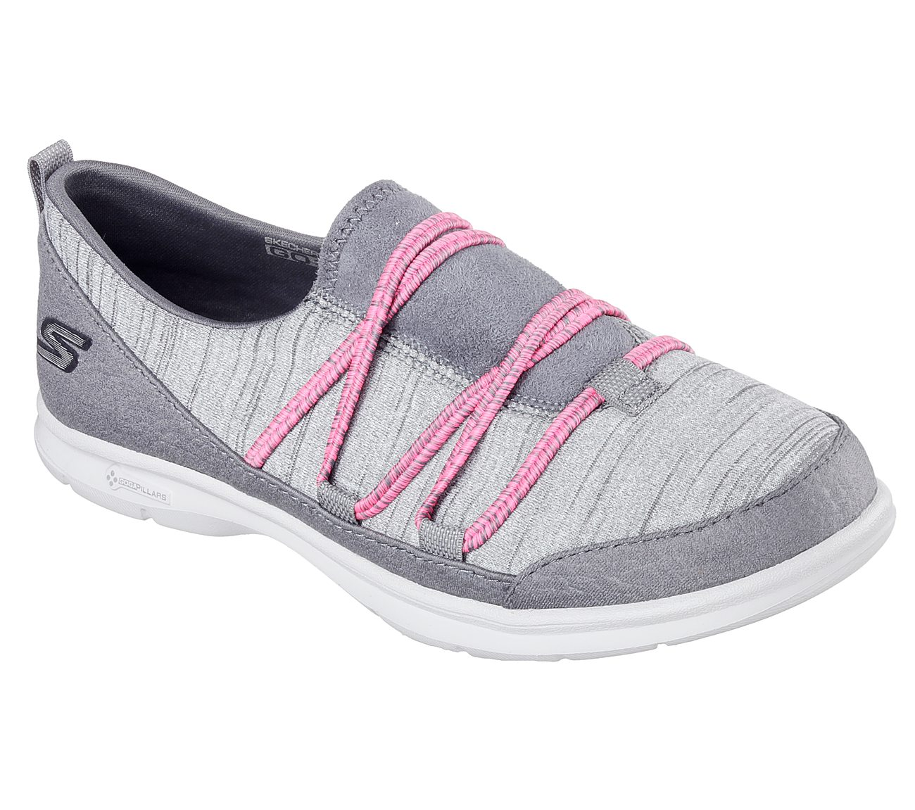 Womens Athletic Shoes skechers performance gray pink go step sway mq5j56y8