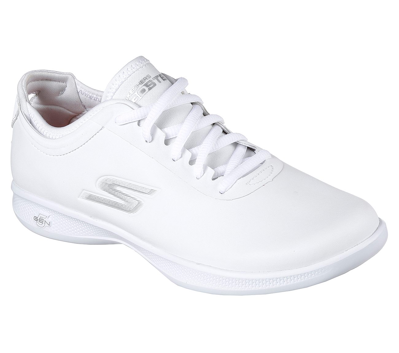 skechers all white shoes