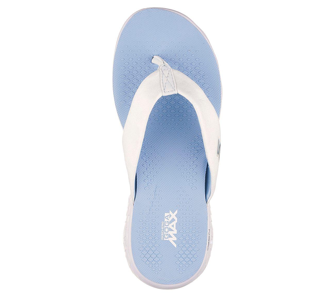 White//Light Blue Skechers Performance Women/'s On The Go 400 Essence Flip Flop