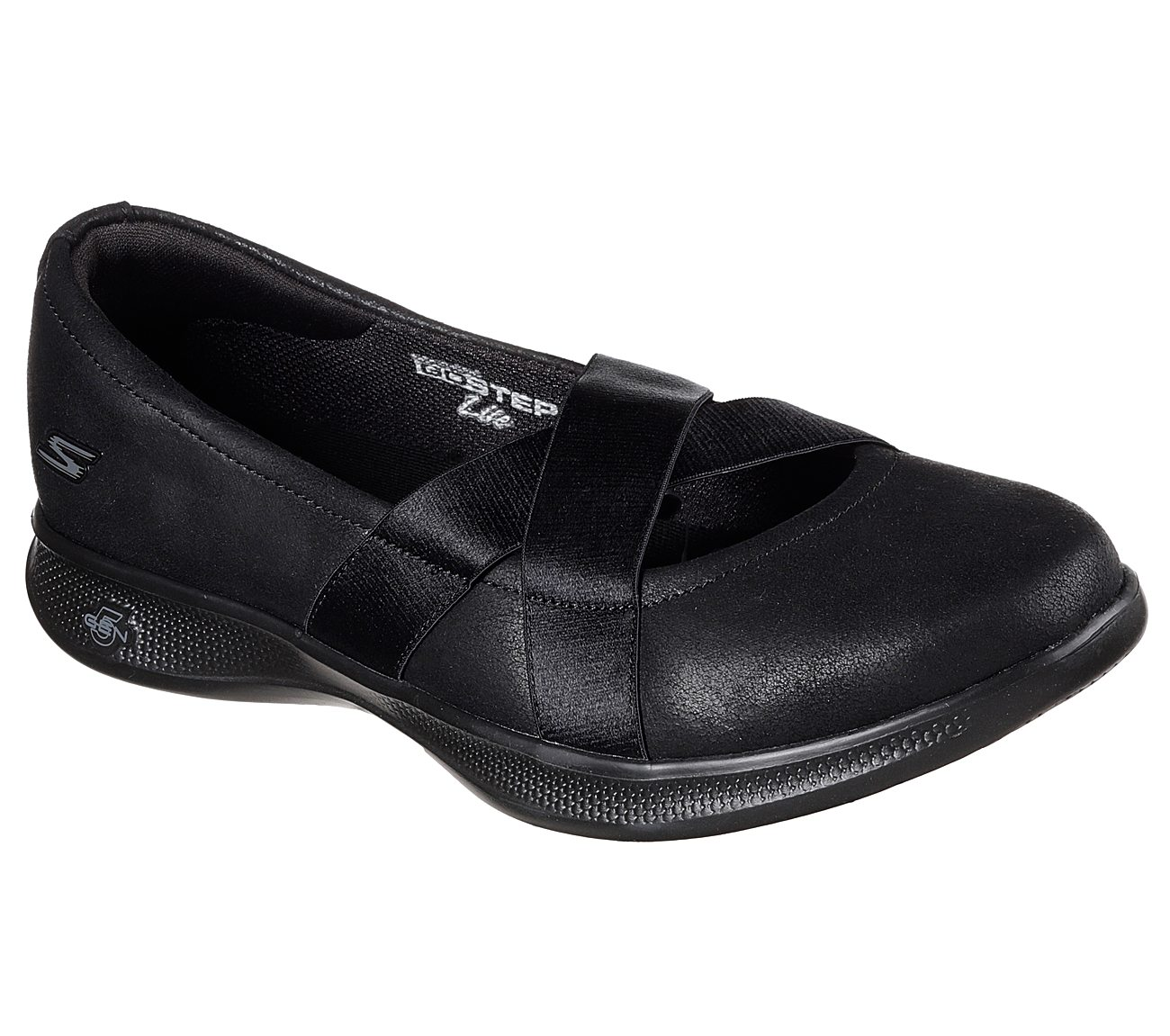 SKECHERS Womens Go Step Lite Lovely Shoes Black oRnNYQX