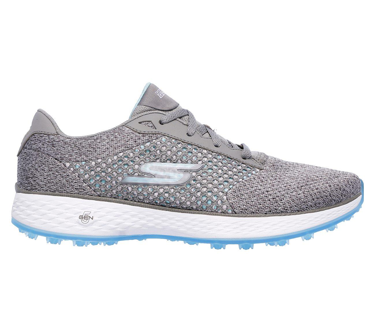 Skechers Performance Shoes GOwalk 3 - Complete Lace-Up Grey & Aqua Model:0614