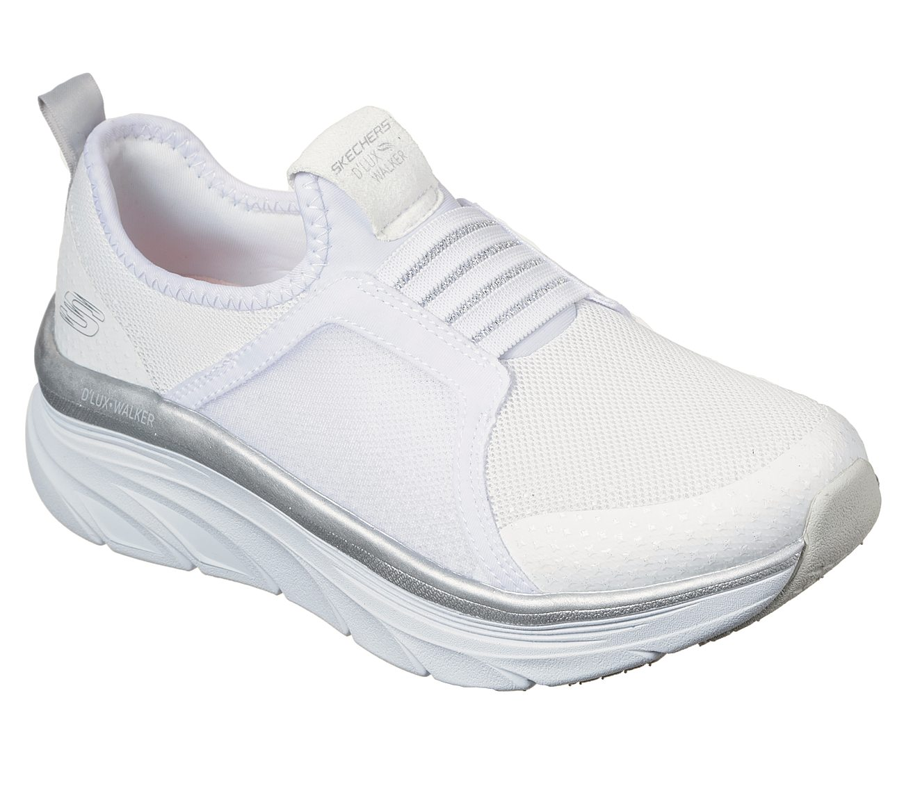 skechers relaxed fit white