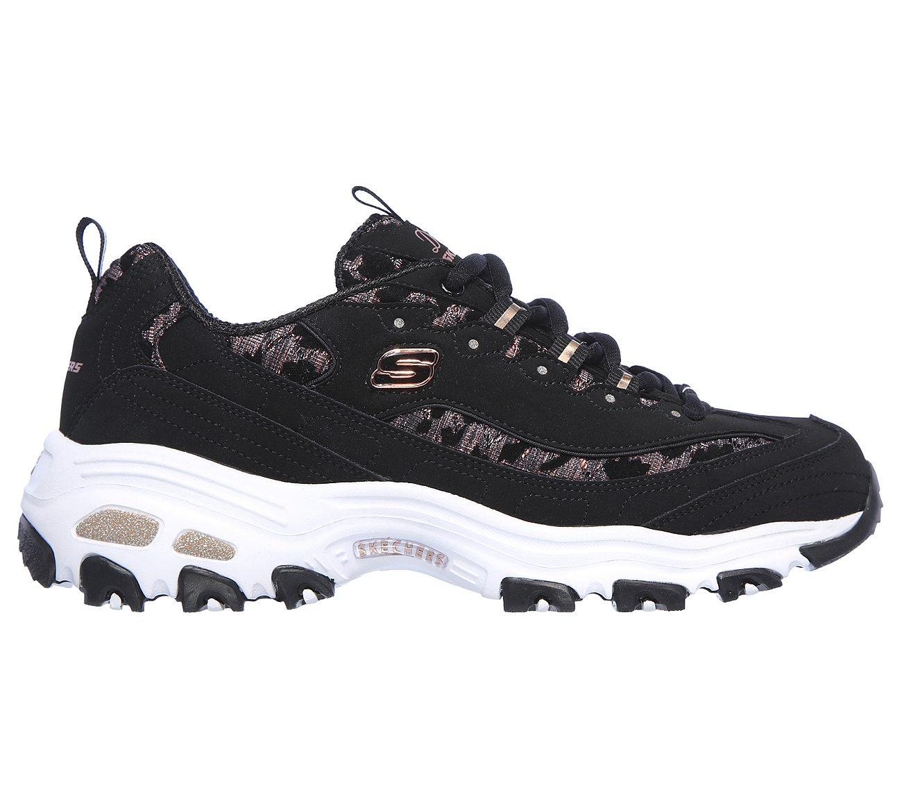Fancy Leopard Skechers D'Lites Shoes