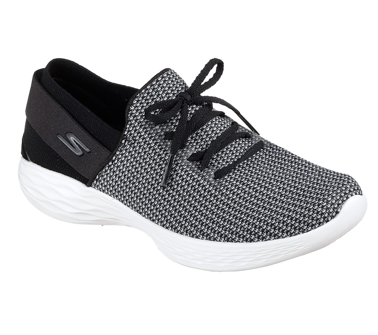skechers shoes black and white