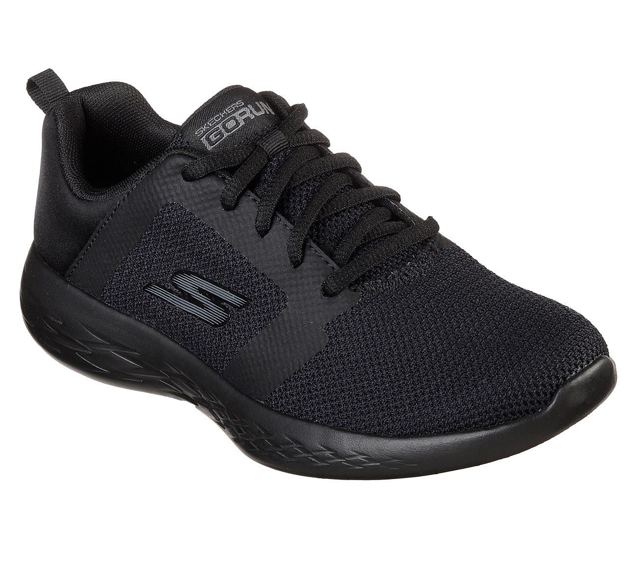 Skechers Go run 600 Sneaker schwarz Damen Schuhe Leder