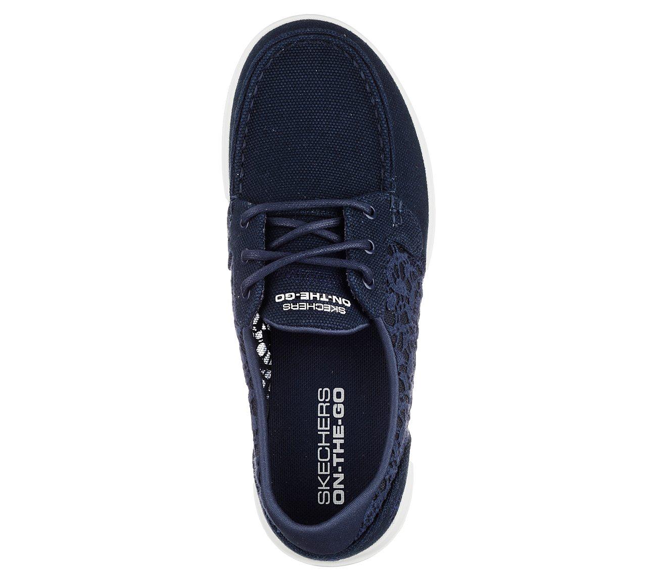 skechers damen canvas sneakers bootsschuh