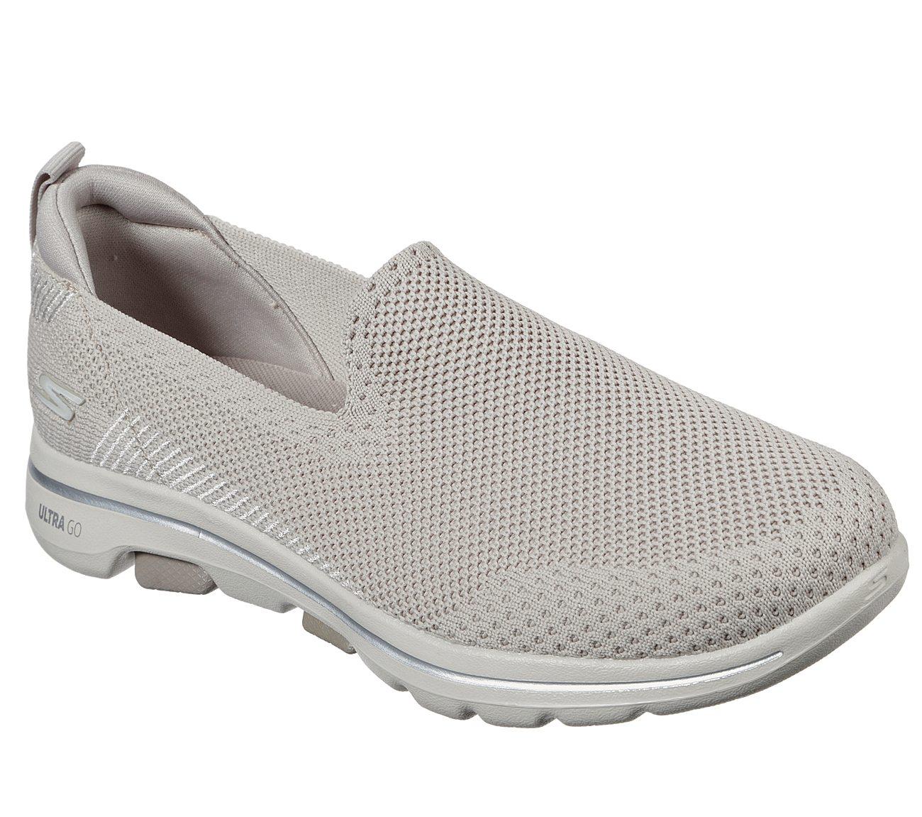 Skechers Skechers Women's GOwalk 5 Trendy Athletic Shoes, Gray 9.5 from SKECHERS | ShapeShop
