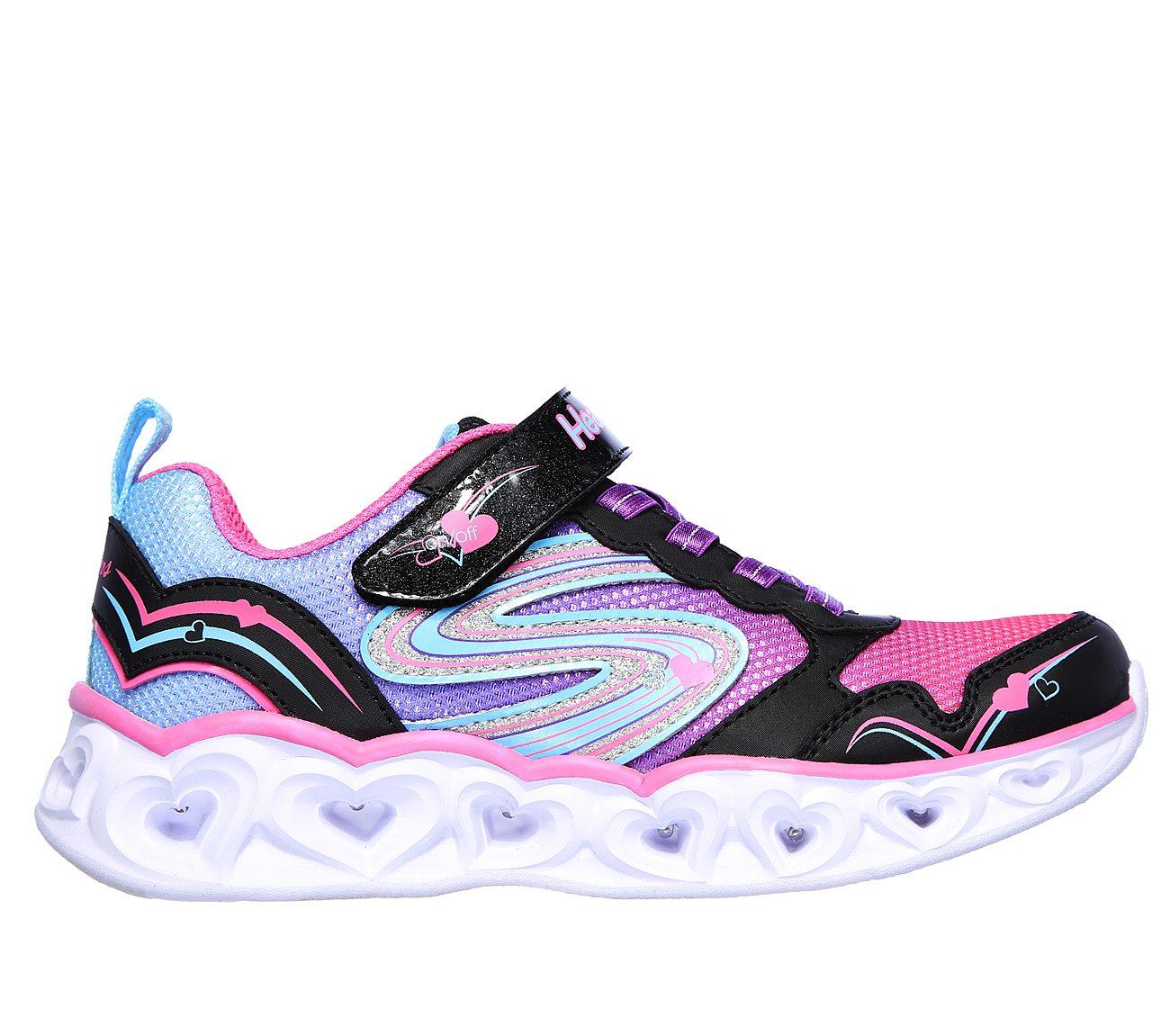 Girls' Skechers S Lights Light Sparks Sneaker BlackMulti