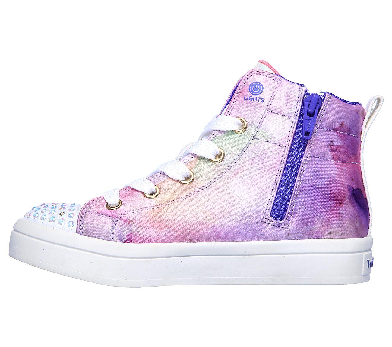 Skechers Girls Twinkle Toes Twi lites Unicorn Splash Purple rnp6y