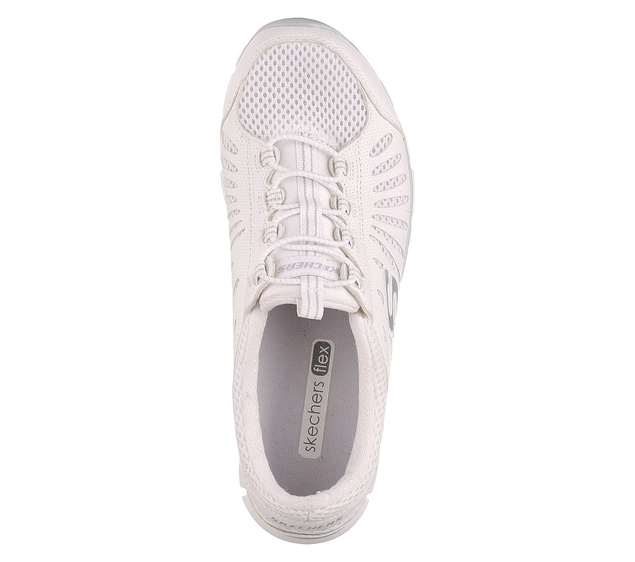 SKECHERS FLEX GRATIS Big Idea White Slip On Shoes Womens US