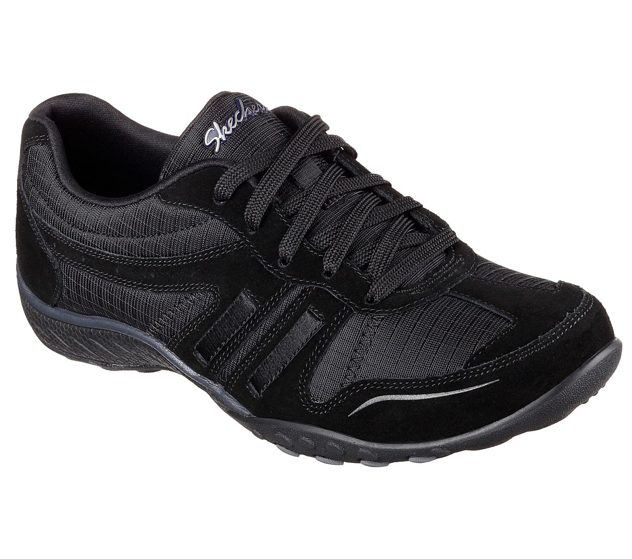 Skechers Breathe Easy Jackpot Relaxed Fit Sneaker Black Q35u5999