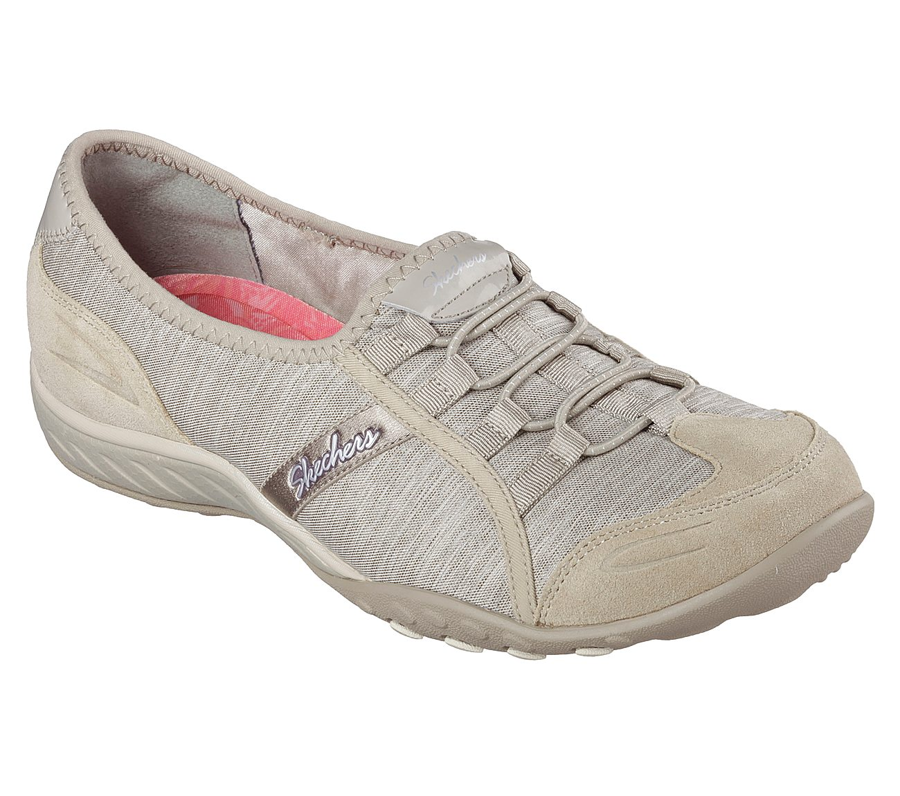 Skechers Relaxed Fit: Breathe Easy-Pretty Lady - Women's Size 6 - Taupe